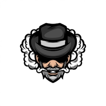Nowoczesne logo człowieka