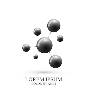 Nowoczesne logo dna ikona i cząsteczki