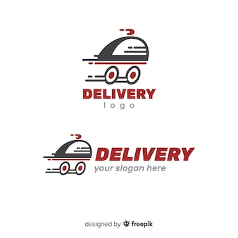 Nowoczesne logo dostawy o płaskiej konstrukcji