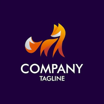 Nowoczesne logo foxa