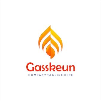 Nowoczesne logo gazu lub oleju