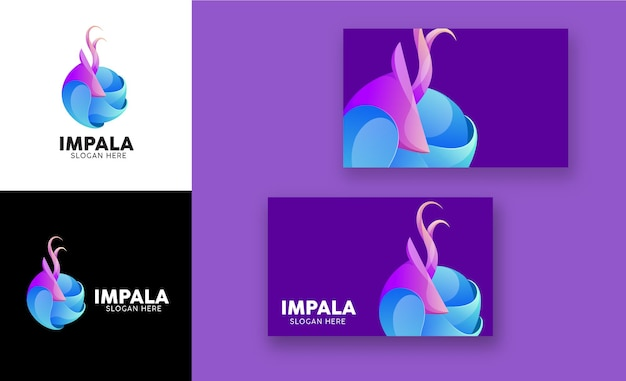 Nowoczesne logo gradientowe impala