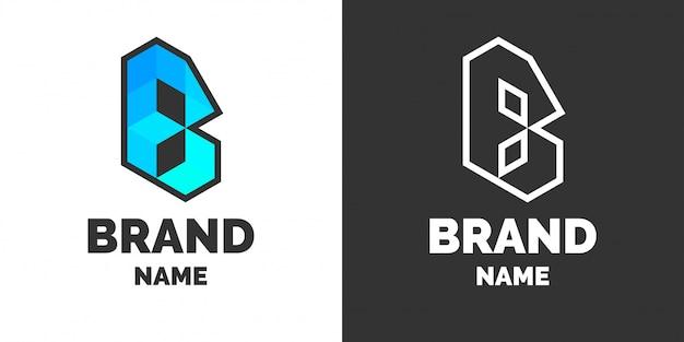 Nowoczesne logo i podpis pod literą b.