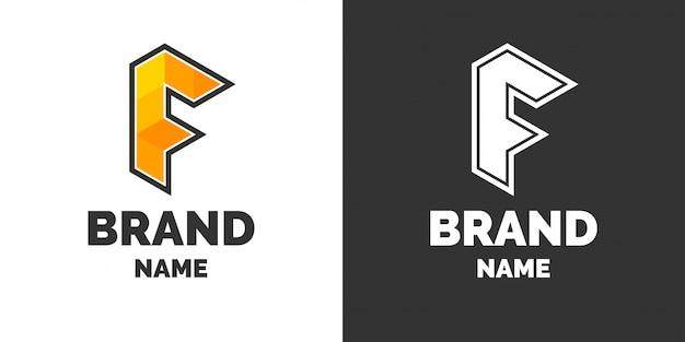 Nowoczesne logo i podpis pod literą f.