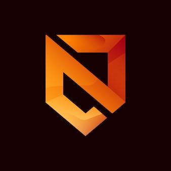 Nowoczesne logo litery n.