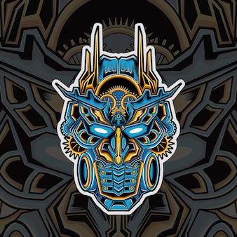 Nowoczesne logo maskotki z głowicą transformatora