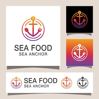 Nowoczesne logo owoców morza