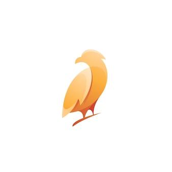 Nowoczesne logo ptaka z kolorem gradientu