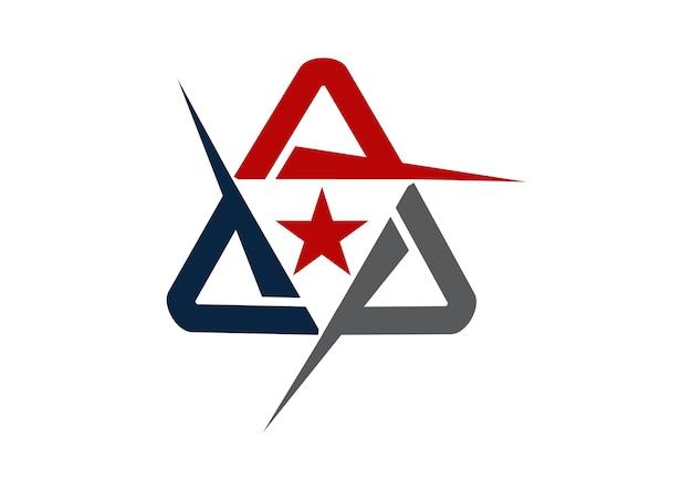 Nowoczesne logo rozwiązanie litera a