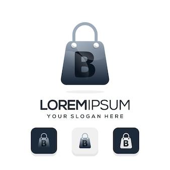 Nowoczesne logo sklepu z szablonem logo litery b