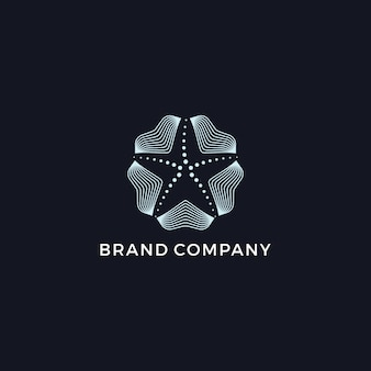 Nowoczesne logo starfish
