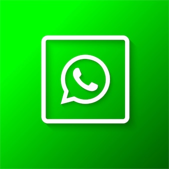 Nowoczesne logo whatsapp