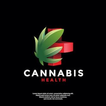 Nowoczesne logo zdrowotne konopi