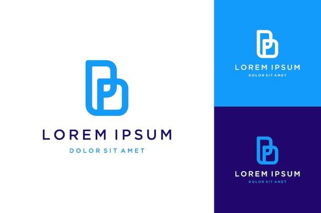 Nowoczesne logotypy lub monogramy lub inicjały liter bp