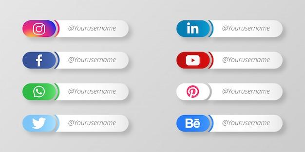 Nowoczesne media społecznościowe dolna trzecia
