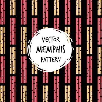 Nowoczesne memphis pattern background