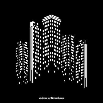 Nowoczesne miasto w nocy w tle