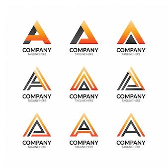 Nowoczesne minimalistyczne litery a logo szablon