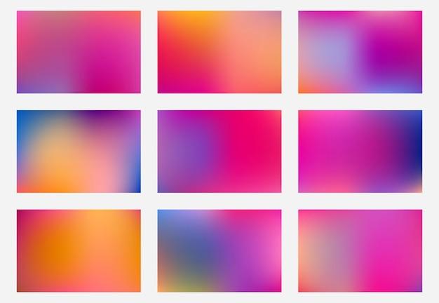 Nowoczesne, minimalistyczne tło gradientowe mieszanka kolorów