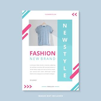 Nowoczesne moda nowy szablon firmy ulotka