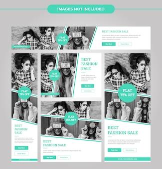 Nowoczesne mody noszą banery reklamowe dla mediów społecznościowych