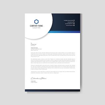 Nowoczesne niebieski papier firmowy