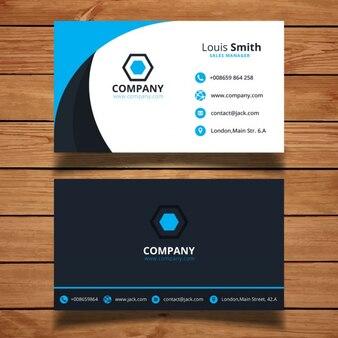 Nowoczesne niebieski wizytówkę projektowania