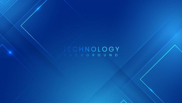 Nowoczesne niebieskie tło streszczenie technologia