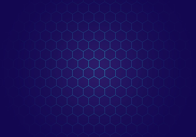 Nowoczesne niebieskie tło sześciokąt