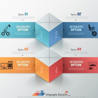 Nowoczesne opcje infografiki transparent z kostki