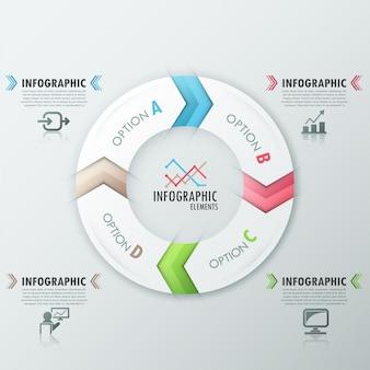 Nowoczesne opcje infografiki transparent z szablonu procesu
