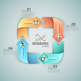Nowoczesne opcje infografiki transparent