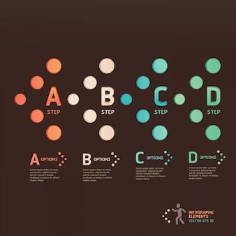 Nowoczesne opcje strzałek punktowych. układ przepływu pracy, schemat, opcje liczbowe, projektowanie stron internetowych, infografiki.