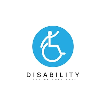 Nowoczesne osoby niepełnosprawne wspierają logo