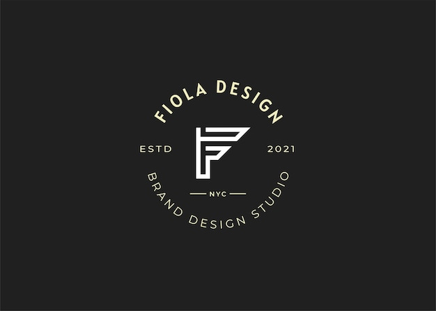 Nowoczesne początkowe ilustracje szablonu projektu logo litery f