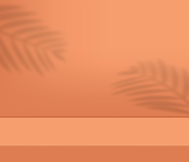 Nowoczesne podium do prezentacji produktów z cieniem drzew tropikalnych