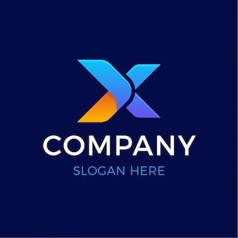 Nowoczesne pogrubione litery x logo