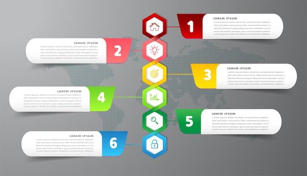 Nowoczesne pole tekstowe na osi czasu szablon infografiki baner
