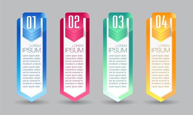 Nowoczesne pole tekstowe szablon infografiki banner