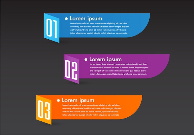 Nowoczesne pole tekstowe szablon transparent infografiki