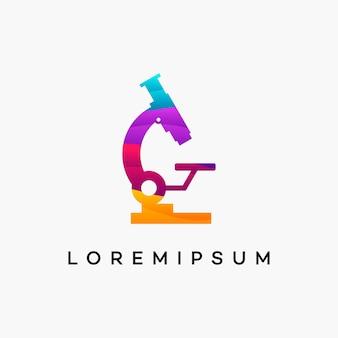Nowoczesne projektowanie logo falistej nauki wektor koncepcyjny, szablon projektów logo laboratorium