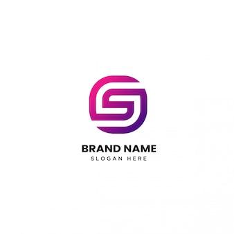 Nowoczesne projektowanie logo litery s.