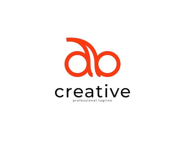 Nowoczesne proste logo marki tożsamości db ab