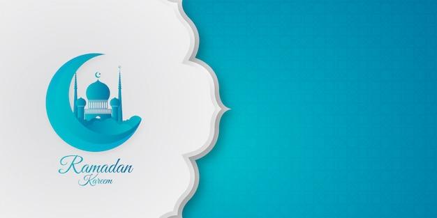 Nowoczesne ramadan kareem tło
