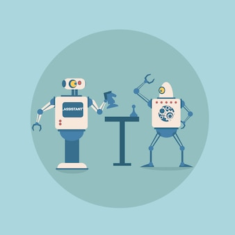 Nowoczesne roboty grające w szachy technologia futurystycznej sztucznej inteligencji