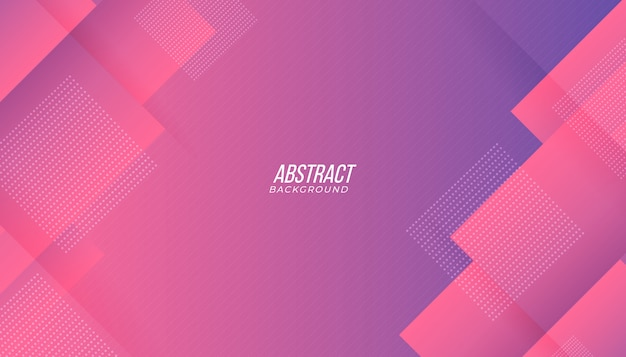 Nowoczesne różowe fioletowe tło gradientowe streszczenie technologia geometryczna
