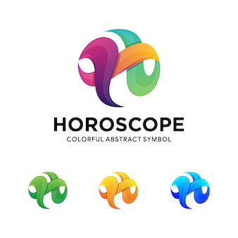 Nowoczesne skręcone logo litery h.