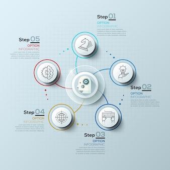 Nowoczesne spiralne opcje infografiki