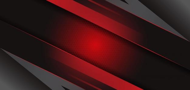 Nowoczesne streszczenie czarne czerwone tło szablonu