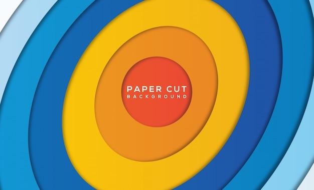 Nowoczesne streszczenie papieru wyciąć tło
